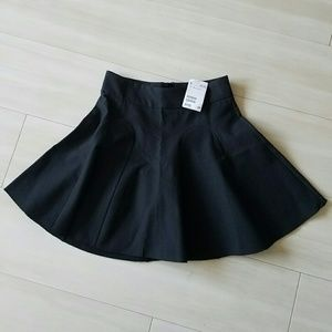 H&M school girl style mini skirt black size 2